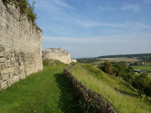 Le long du château