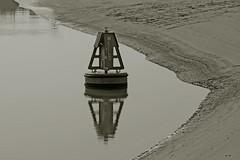 buoy (Leo Reynolds) Tags: bw beach photoshop canon eos iso100 seaside duotone f95 buoy 120mm 40d hpexif 0002sec leol30random threadtwtme threadtwtme2mon groupsepiabw groupblackwhitepics groupnorfolk xleol30x xxx2009xxx xratio3x2x