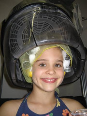 033 - A Twig Is Bent (Sydney Michelle) Tags: net set youth hair 1940s cotton hood rollers seventies dryer hairnet rolled curlers