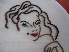 I'm your priviate dancer.....(WIP) (Amanda Panda Pants) Tags: lady embroidery wip sublimestitching tinaturner fandancer