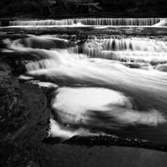 Rushing Water (surgeprotector24) Tags: statepark longexposure blackandwhite landscape michigan rapids filter whirlpool nd porcupinemountains