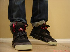 Nike Air Yeezy Black/Pink (Never Wear Them) Tags: pink black hot west dark shoe cool shoes glow air nike strap kanye yeezy