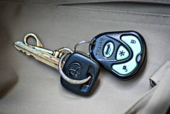Car keys on Khaki