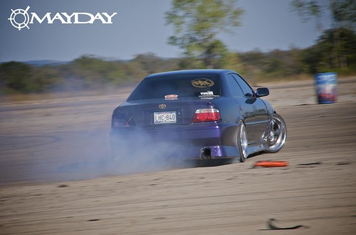 Straight from the motherland, Codys Toyota Chaser lighting up the track.