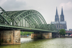 Postcards From The Edge (@richlewis) Tags: bridge photoshop canon river germany deutschland eos cathedral cologne rail pedestrian rhine rhein koeln span hdr koelnerdom supports hohenzollernbruecke photomatix canonefs1755mmf28isusm 450d