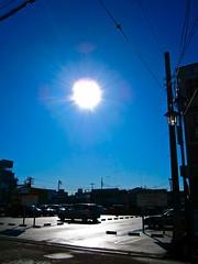 Shonandai - morning glare (aycejapan) Tags: morning sky sun japan canon glare neighborhood ixus kanagawa fujisawa shonandai ixy sd780 canondigitalixus100is canonpowershotsd780is canonixydigital210is