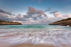 cala mandia2 (natalia martinez) Tags: atardecer mar arena cielo nubes natalia mallorca martinez rocas sensaciones turquesa sigma1020 calamandia