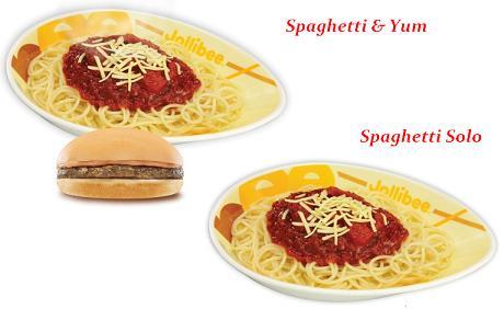 Jollibee Spaghetti Meals