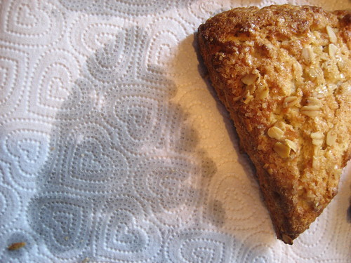 oatmeal scone with butter shadow