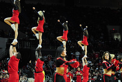2009 11 04_8290.jpg (kylures) Tags: basketball cheerleaders dancers spirit knights louisville ncaa ladybirds ul cardinals bellarmine uofl freedomhall ncaabasketball collegecheerleaders