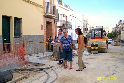 Visitando obras por El Viso: calle La Muela