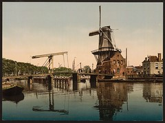 [Catharine Bridge and windmill, Haarlem, Holland] (LOC) (The Library of Congress) Tags: bridge reflection haarlem windmill spaarne libraryofcongress molen adriaan xmlns:dc=httppurlorgdcelements11 dc:identifier=httphdllocgovlocpnpppmsc05820