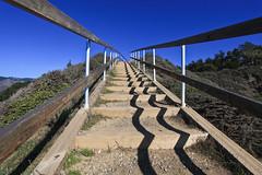 Stairway to heaven (Hkan Dahlstrm) Tags: california blue sky usa beach azul strand blauw unitedstates path blu united playa bleu handrail states blau overlook muir muirbeach plage spiaggia bl bl