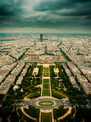 paris view 2.0 (Dennis_F) Tags: park city houses sky paris france clouds dark frankreich tour view eiffeltower wolken eiffel greens eiffelturm montparnasse parisview
