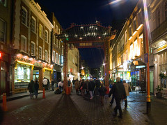 Spot the Werewolf (Gerry Balding) Tags: street england people london lights chinatown soho restaurants tourists gateway shops westend warrenzevon worldtrekker