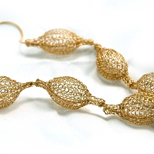 Gold filled pods necklace