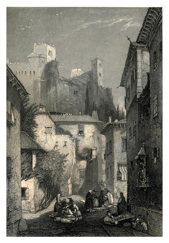 038-Calle de la Misericordia en Leiria-The tourist in Portugal 1839- James Holland