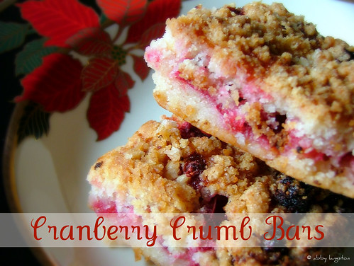 ... in the Kitchen: Cranberry Crumb Bars (12 Days of Christmas Treats