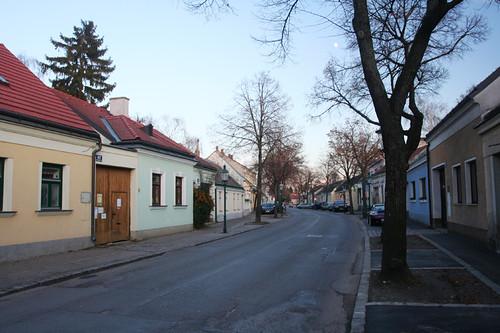 quiet street in Stammersdorf