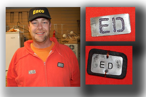 Ed's Name Tag - photo by Jason O'Reilly