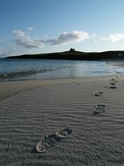 Soon No-one Will Know I've Been ... (DMeadows) Tags: sea summer beach church island coast scotland tide footprints chapel harris isle hebrides isleofharris davidmeadows dmeadows yahoo:yourpictures=waterv2