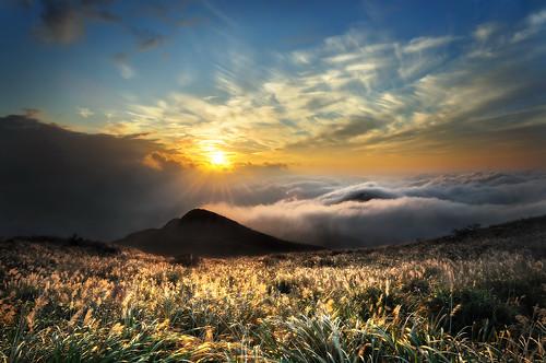 大屯山 夕陽