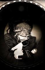 Amy in Distress (PixelsandPetticoats) Tags: girl sepia fetish circle fun monkey shoes amy legs circus lace fair bondage skirt rope lips cheeky distress funfair vignette damsel damselindistress pantiloons