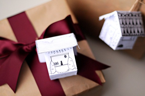 Paper Houses as Gift Tags