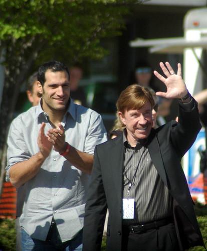On the streets of Ashvegas: Chuck Norris