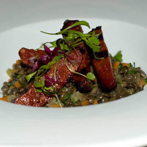The English Pig - Puy Lentils with Chorizo