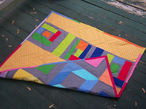 My mini quilt, on the front porch