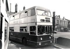 VOH19J - Walsall 1975 (Walsall1955) Tags: bus buses railwaystation 32 daimler walsall fleetline oldstation tightspot 4019 northerncounties ncme wmpte daimlerfleetline westmidlandspte littlestationstreet walsallstation walsallrailwaystation voh19j