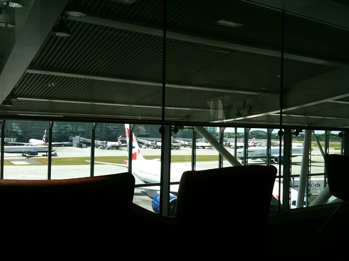 View of planes from lounge