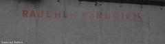 Rauchen Verboten (PhoGrafy) Tags: wall alt hamburg schrift elbe mauer verbot lostplace ruachen