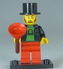 Brick Yourself Custom Lego Figure Comedian with Plunger