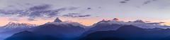 Annapurna Massif Panorama (Iftakhar Hasan) Tags: nepal pokhara sarangkot annapurna annapurnamassif mountainrange panorama mountain sunrise sky cloud dawn canoneos7d canonefs18135mmf3556is