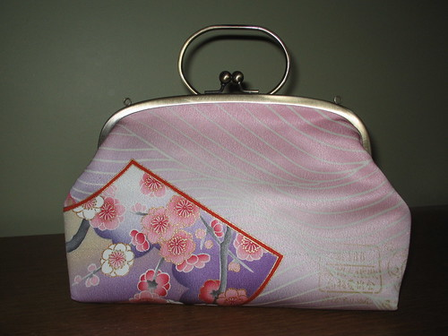Pink And Purple Kimono Remake Bag