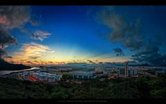 Vivid Tung Chung |      (E.HOBA) Tags: sunset panorama landscape hongkong airport nikon vivid nikkor  soe hdr lanscape magichour fuel d3 fueltank  tungchung suneset  1424 abigfave flickraward theperfectphotographer nikond3 goldstaraward nikkorafs1424 flickrclassique