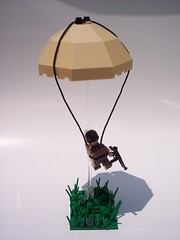 Paratrooper! (Andrew F.) Tags: world two war lego wwii ww2 parachute paratrooper brickarms