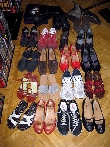 For someone who doesn't buy a lot of shoes I have a lot of shoes.
