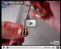nail design tutorial make tiger stripe design