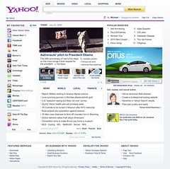 New Yahoo Homepage (July 2009)