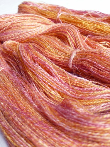 100% silk, 592 yds laceweight 2-ply