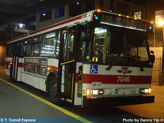 7046 (R. Flores) Tags: toronto ontario canada bus buses america diesel ttc north 1996 v commercial transit orion chrysler commission