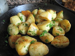 Herbed potatoes, ready