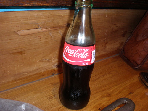 Obligatory Coke Classic in glass bottle.