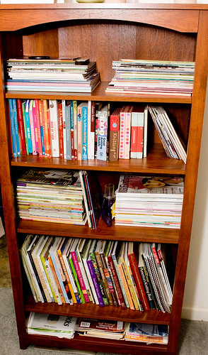 Reorganization:  Knitting Books