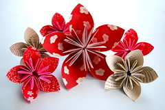 kusudama (sevenworlds16) Tags: red flower paper japanese book origami pages craft 365 kusudama project3661 2009yip 3652009