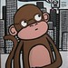 Bespectacled Monkey in Robot City