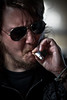 ben (sadaiche (Peter Franc)) Tags: portrait sunglasses beard cool ben trucker smoke dirty smoking smoker tough crusty sunnies grimey wispypubichairbeardhaha